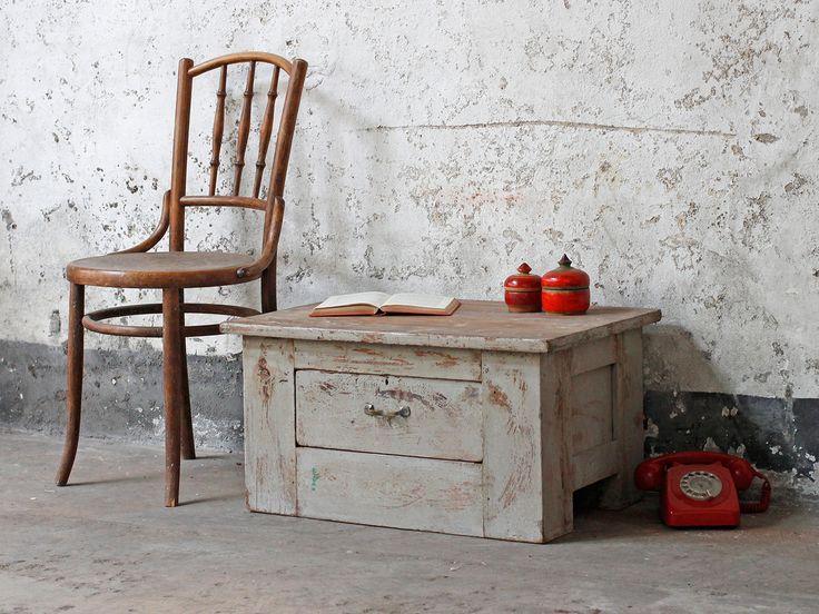 Vintage Teak Cabinet With Drawer