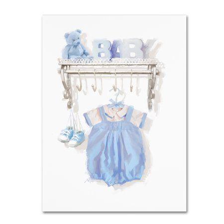 Trademark Fine Art 'Birth Blue' Canvas Art by The Macneil Studio, Size: 35 x 47, Blue