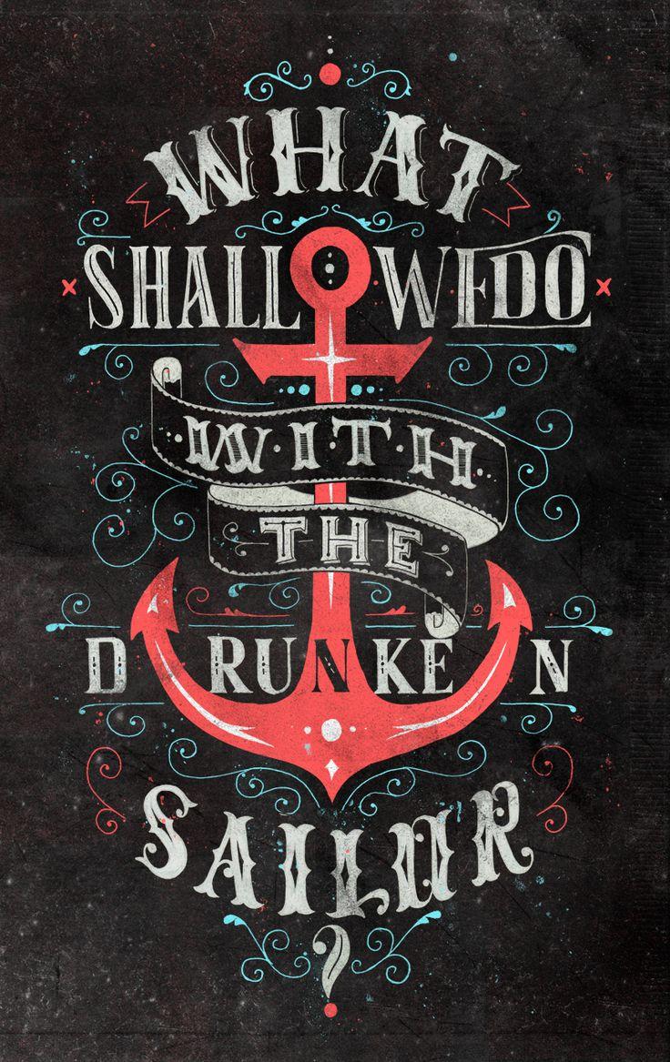 The skipper is a drunk as well as a sailor