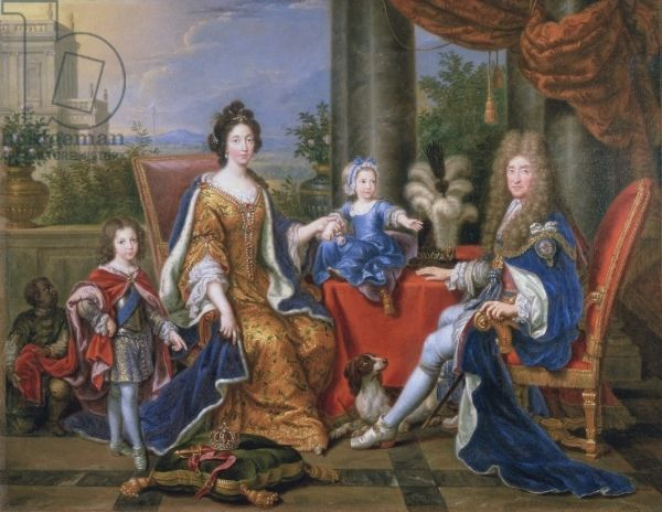James II and family, 1694 (oil on canvas), Mignard, Pierre (1612-95) / Royal Collection Trust © Her Majesty Queen Elizabeth II, 2016 / Bridgeman Images