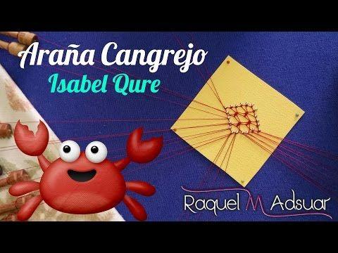 "Araña ""CANASTA DE FLORES"" (4 o 5 patas) by Nora. Los Bolillotutoriales de Raquel M. Adsuar - YouTube"