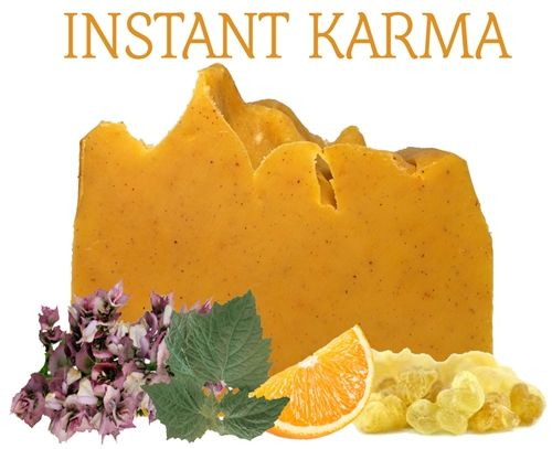 Instant Karma 100% Natural Soap-We're all shining in, Mr. Lennon. No artificial fragrances, synthetic Chemicals, sls or animal testing.