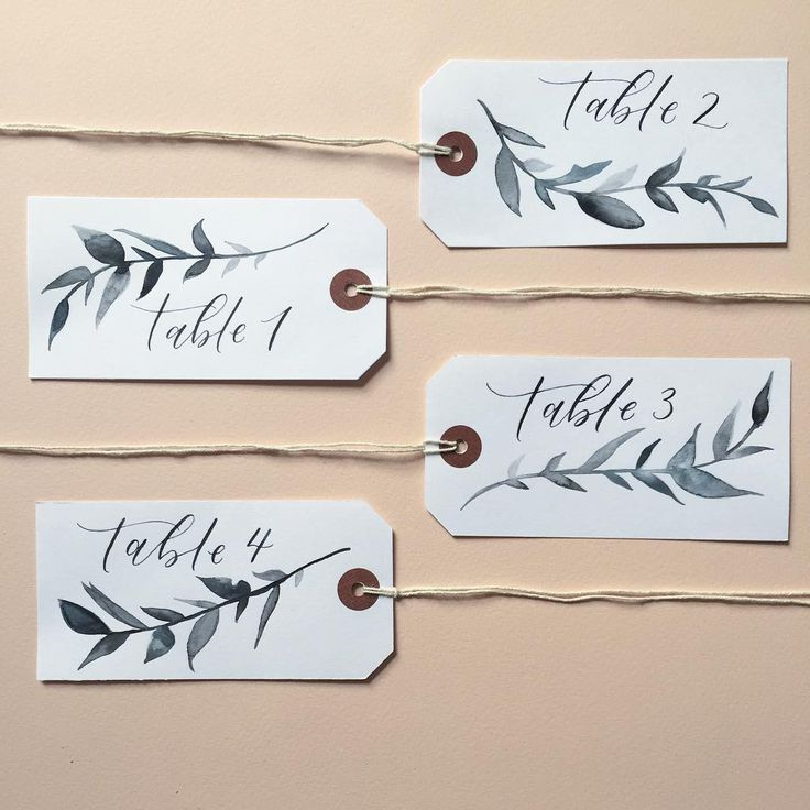 58 отметок «Нравится», 2 комментариев — P A L E P R E S S L O N D O N (@palepresslondon) в Instagram: «tables • hand painted foliage on simple name tags ready to be hung for a wedding this weekend 🌿…»