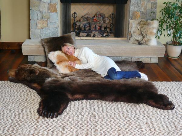 87 best peaux de bêtes images on pinterest | bear skin rug, furs