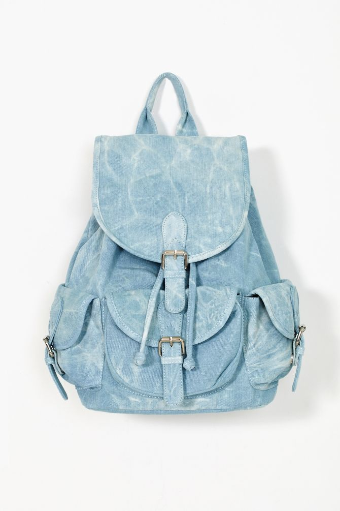Nasty gal Denim Daze Backpack in Blue (denim) | Lyst
