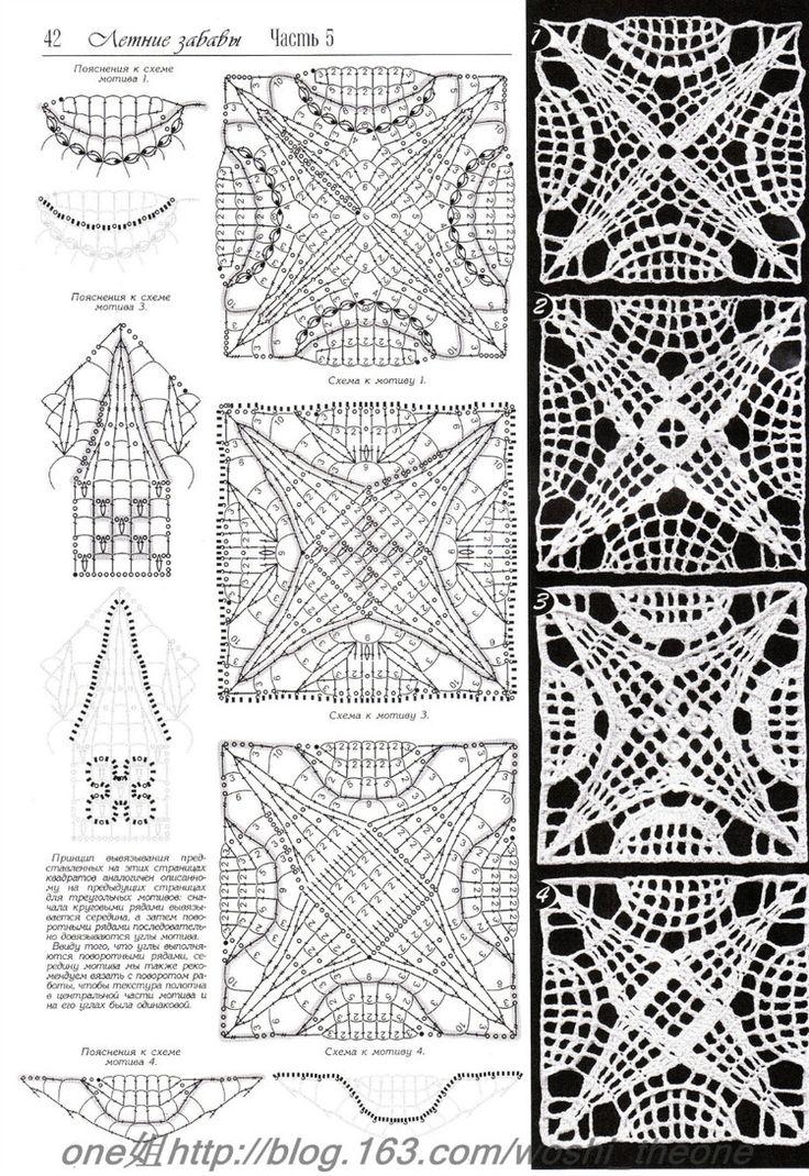 1777 best crochê images on Pinterest | Bordes de ganchillo, Punto de ...