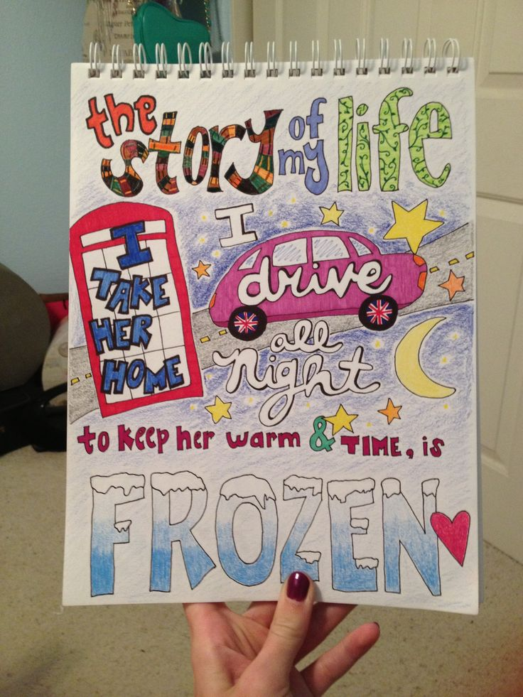 My lyric drawing of Story Of My Life ☺ | Art Lessons ...