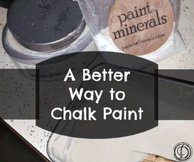 Mineral Paint (the chalk paint alternative)