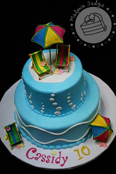 17 best images about swimming pool cakes on pinterest cake central birthday cakes and for Swimming pool birthday cake pictures
