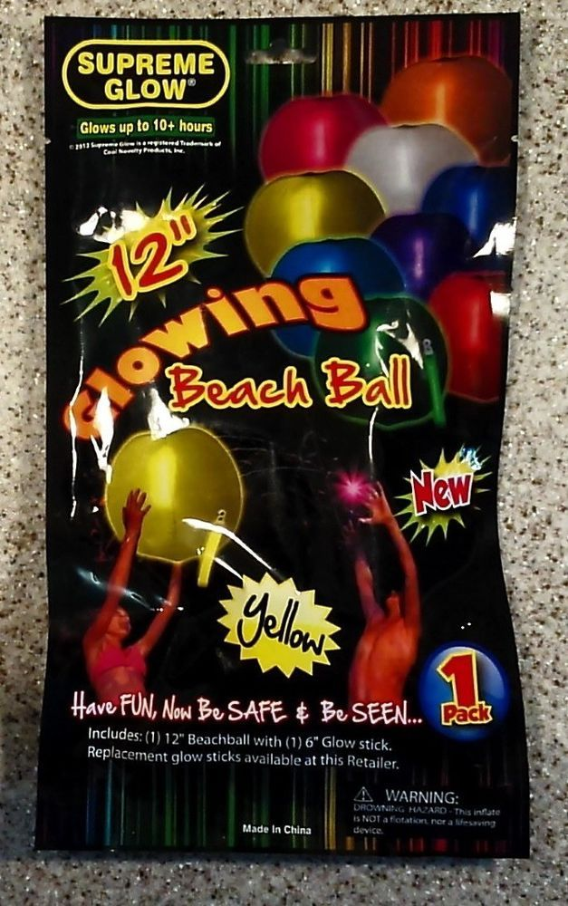 Inflatable Pool Toy Beach Ball Glow In The Dark Beachball