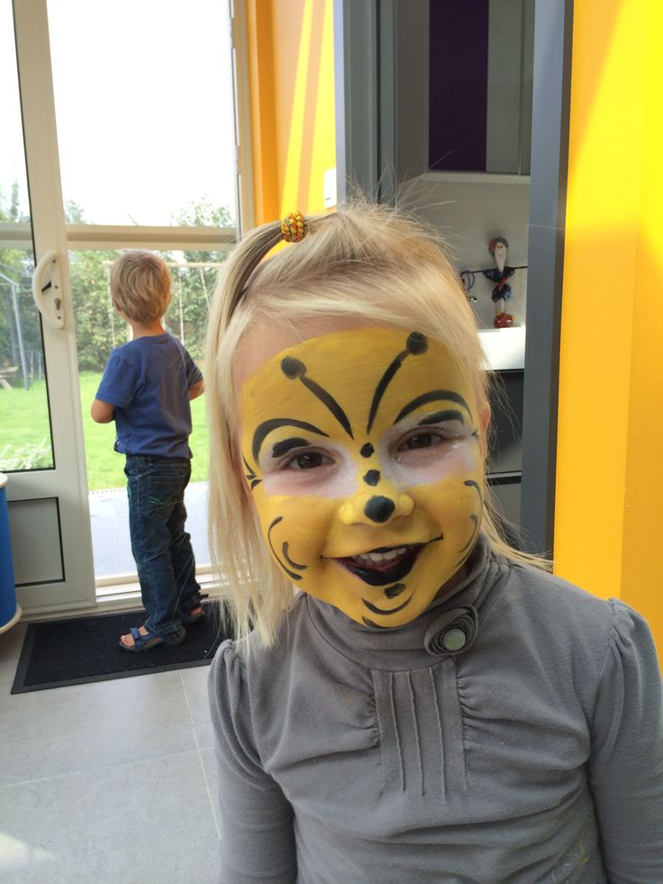 Cute Bumble Bee Face Painting