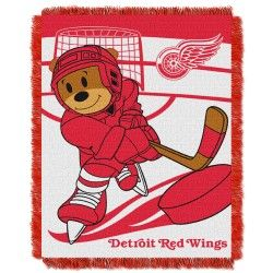 Detroit Red Wings NHL Score 36 x 46 Triple Woven Baby Jacquard Throw Blanket