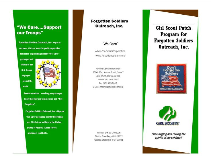 Forgotten Soldiers Girl Scout patch program