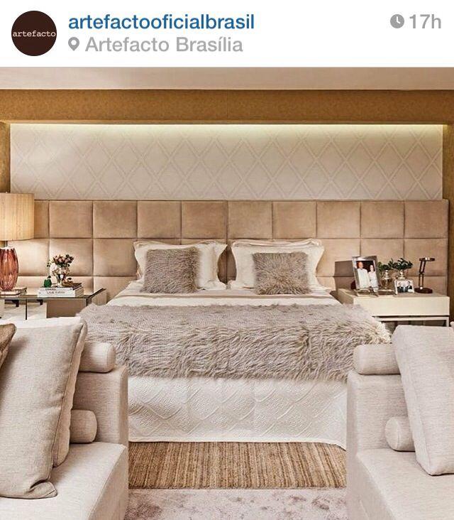 Quarto de Casal com cores neutras! Fonte Instagram Artefacto