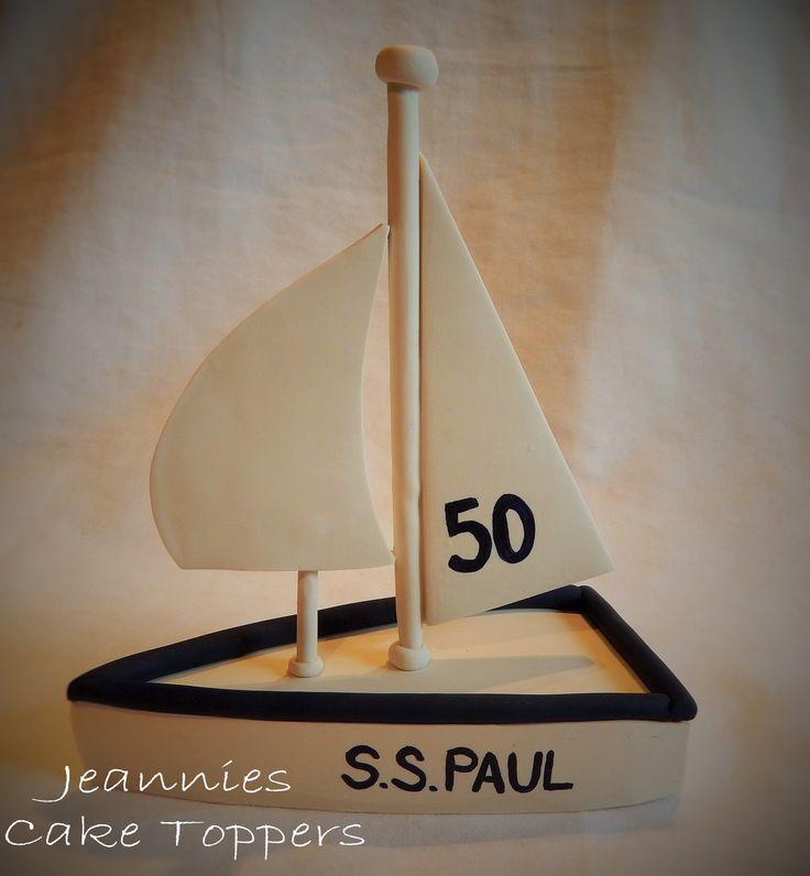 Polymer clay sail boat