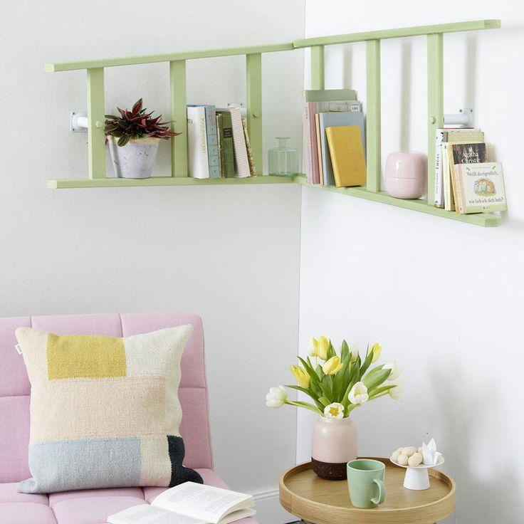 die 25 besten holzleiter ideen auf pinterest retro leiter leitern und dekoleiter. Black Bedroom Furniture Sets. Home Design Ideas