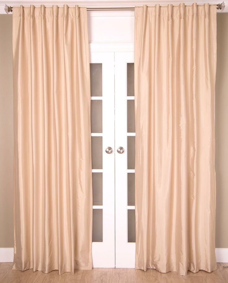#2P550 {Ivory Colors} Faux Silk Curtain (Use Discount Code) YOU PAY 1/2 DOWN