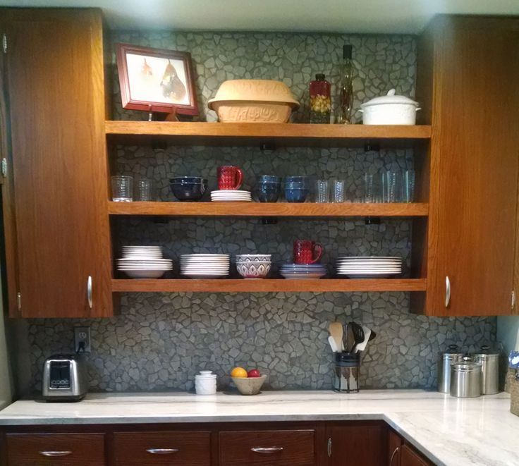 Stone Grey Mosaic Tile Kitchen Backsplash. Https://www.pebbletileshop.com