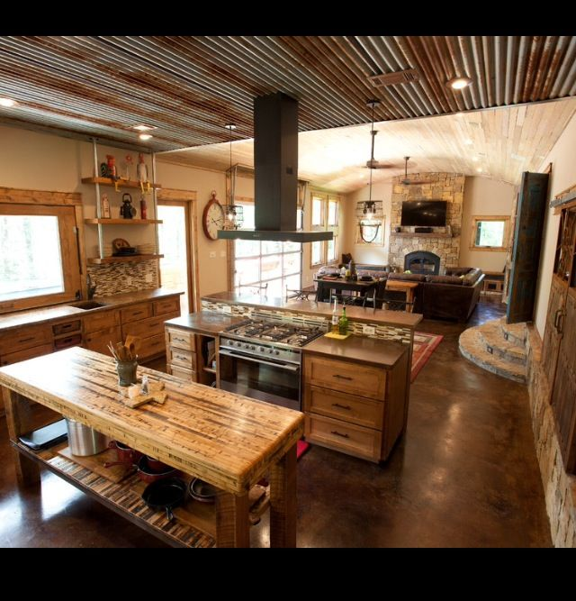 Amazing Concrete House Plan For A Rustic Forest Home In: Best 25+ Tin Ceiling Kitchen Ideas On Pinterest