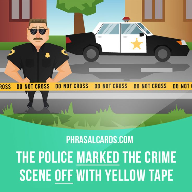 """""""Mark off"""" means """"to separate an area by putting something around it"""". Example: The police marked the crime scene off with yellow tape. Get our apps for learning English: learzing.com"""