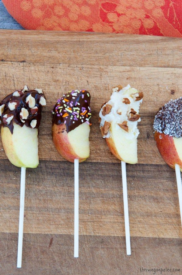 Chocolate Covered Apples Recipe - perfect for Halloween. Gluten free, too!