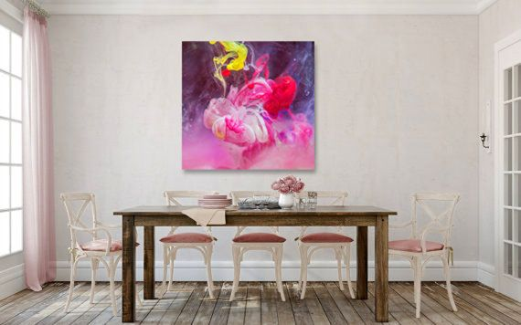 Orchid - Abstract Print,Pink Large Art Print,Large Scale Wall Art, Giclee Art Print, Contemporary Print,Unframed Print,Square Art