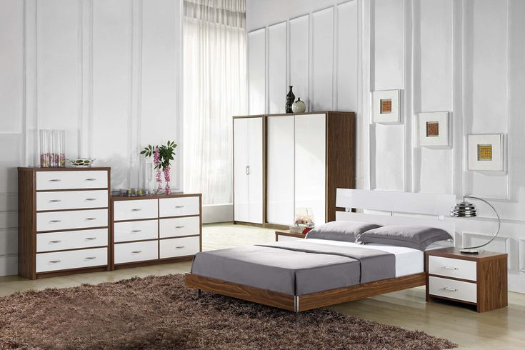 white and wood bedside table - Google Search