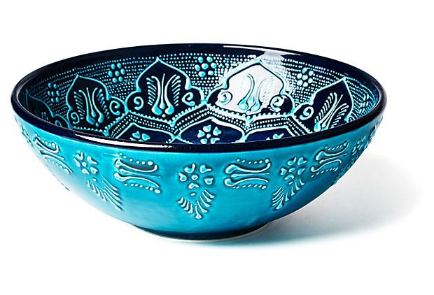 These Turkish plates and bowls are beautiful. I've seen them at Home Goods for a steal.