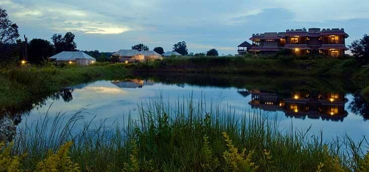 #Bundela Safari Lodge in Kanha is an exclusive Safari Lodge spread over 8 acres of natural surroundings overlooking the Banjaar River offering authentic Jungle Experience for its guests.