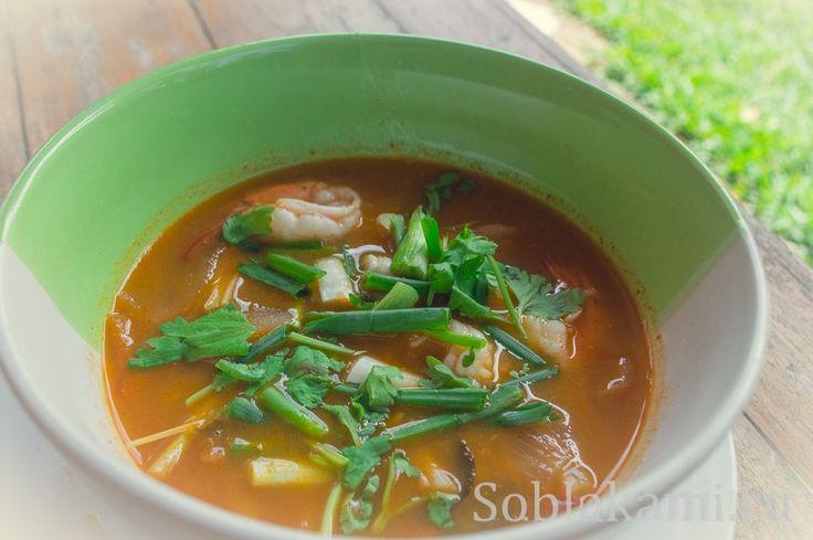 Таиланд, рецепты, тайская кухня, суп Том Ям