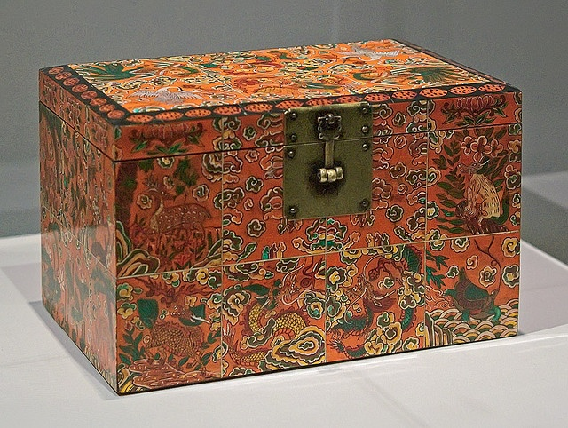 """Lacquer box, """"Box with Design of Auspicious Motifs"""", Korean, Joseon dynasty, late 18th-early 19th century, at the Saint Louis Art Museum, in Saint Louis, Missouri, USA by msabeln, via Flickr"""