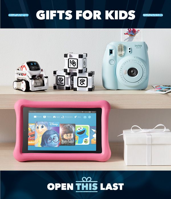 At Best Buy, your kid's wish is our command. Our gift ideas are jampacked with cool tech every kid will love. From instant cameras for the photographers to robots for the builders to the latest tablets for the readers and gamers, eyes are definitely going to light up this Holiday season.