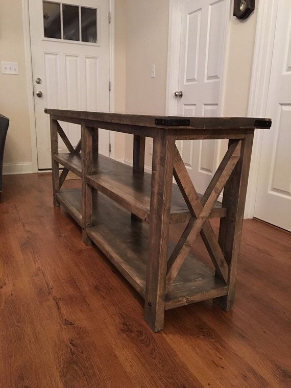 Rustic style sofa/entry way table by LaceysWoodWorking on Etsy