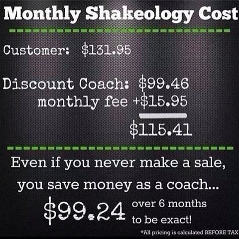 Let me help you get your Shakeology at the discount coach Price.  www.stephaniegibsonfitness.com www.Facebook/SGIBSON4182