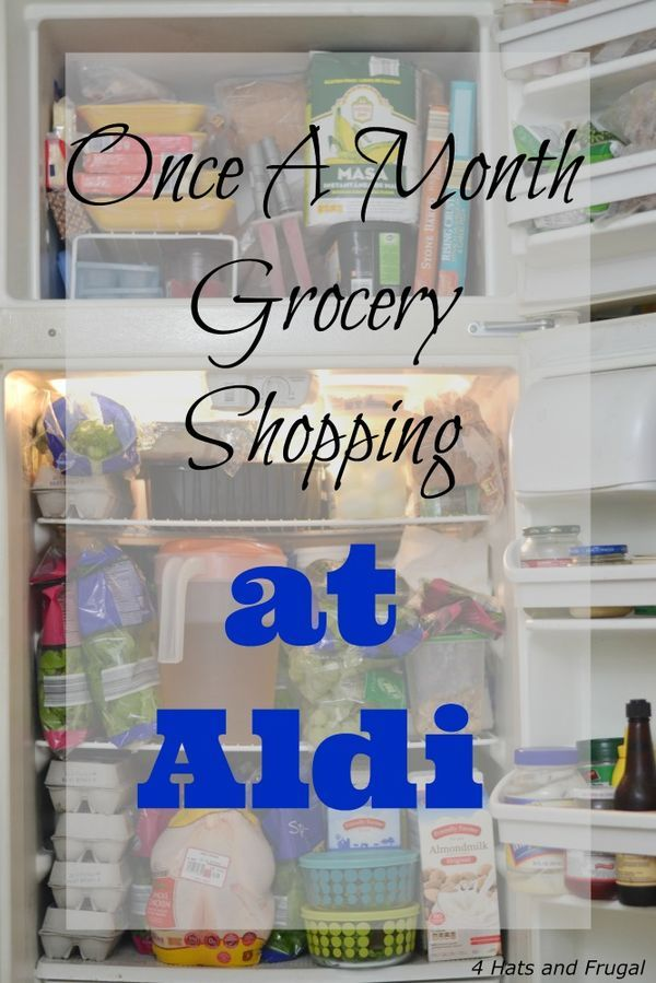 IDEA Health and Fitness Association: Once A Month Grocery Shopping at Aldi - $64 Grocer...