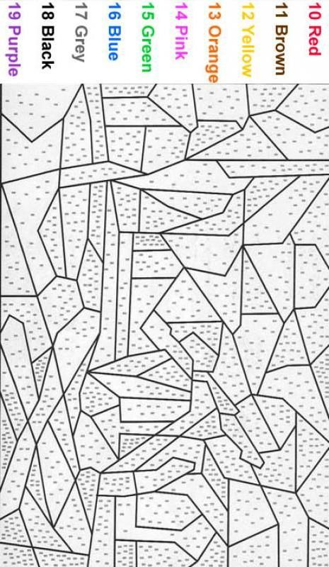 Color By Number Coloring Pages For Adults Beginner Color By Number