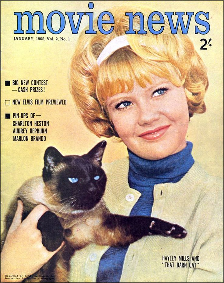 Movie News, magazine - January 1966 - featuring Hayley Mills.