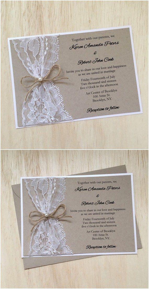 diy wedding invitations elegant%0A rustic country wedding invitation with twine pearl    http   www deerpearlflowers