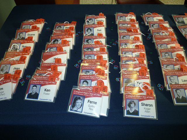 Preparations for the 50th Reunion: Name Tags by Aldene.Gordon, via Flickr