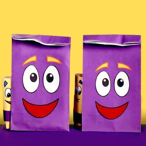 Bolsas chuches de la mochila de Dora para imprimir