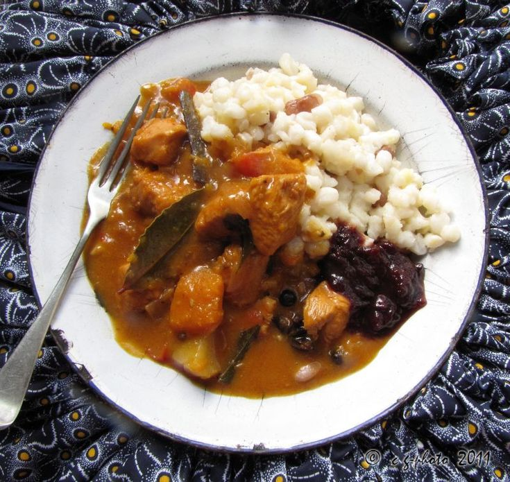 SAMP AND BEANS WITH CHICKEN BUTTERNUT CURRY DONE IN WONDERBAG 3