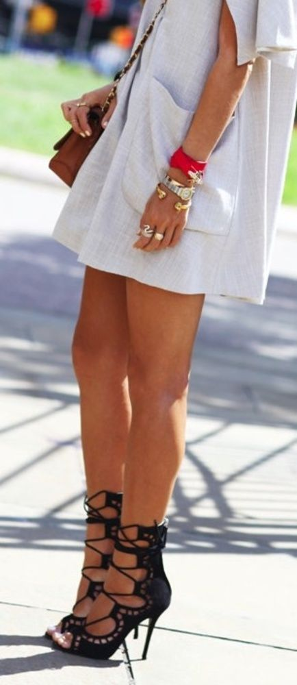 ~ Lace-Up Heels & a little white dress ~
