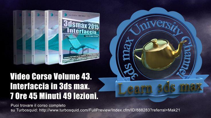 Video Corso Autodesk 3ds max Interfaccia: 001 Welcome Learn e Extend