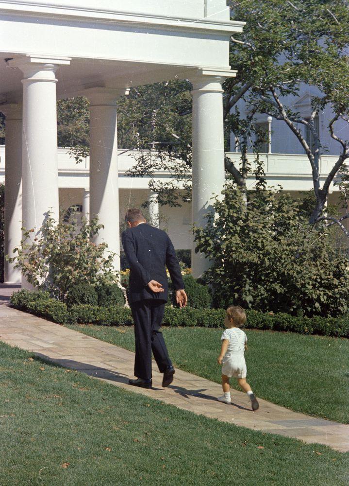 ST-C333-11-63. President John F. Kennedy with John F. Kennedy, Jr. - John F. Kennedy Presidential Library & Museum