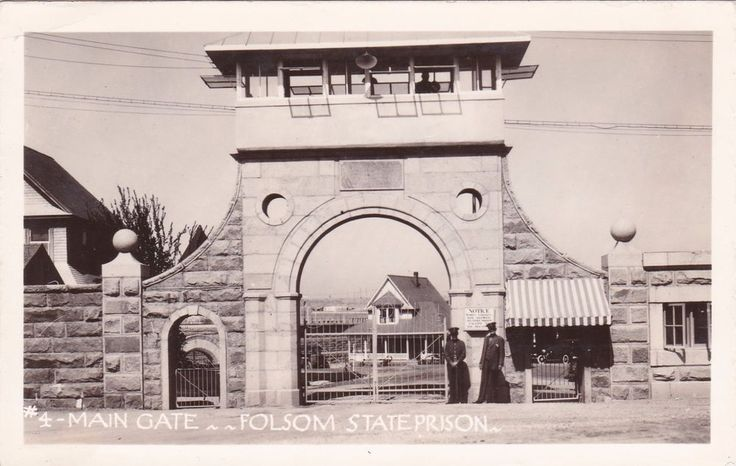 RP; Main Gate , Folsom State Prison , Guards , California , 1920-30s
