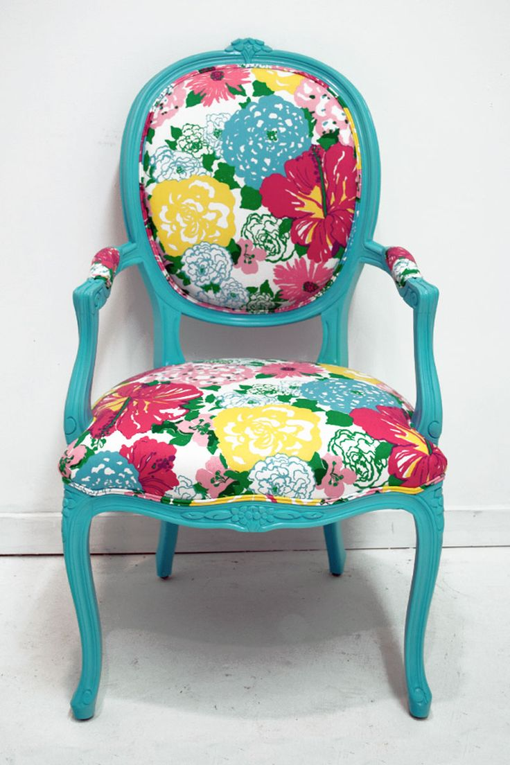 Eileen & Taylor   Home Decor & Custom Furniture   Floral Chintz Lilly Pulitzer Chair