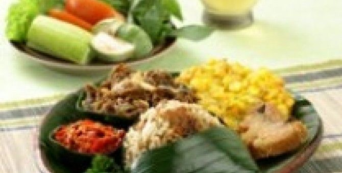 pecel rice from indonesia