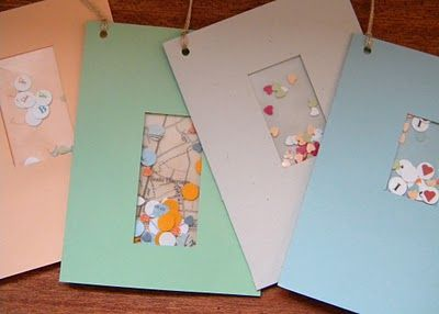 homework: today's assignment - be inspired {creative inspiration for home and life}: Inkling: window envelope gift cards