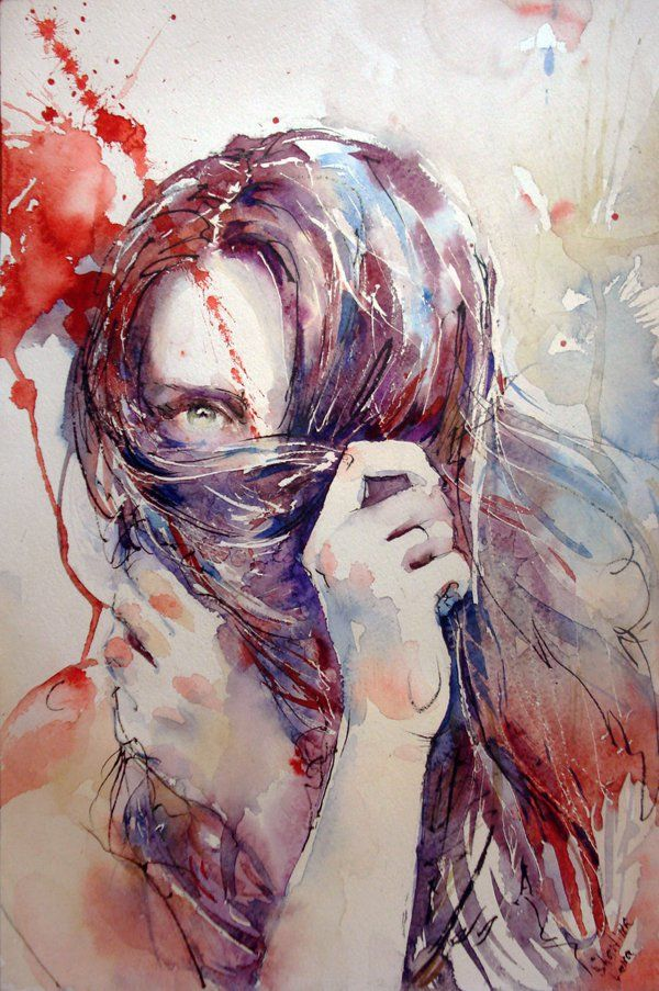 Lesson of Trust - Ukrainian artist Elena Shastina created the beautiful paintings with watercolor and ink.