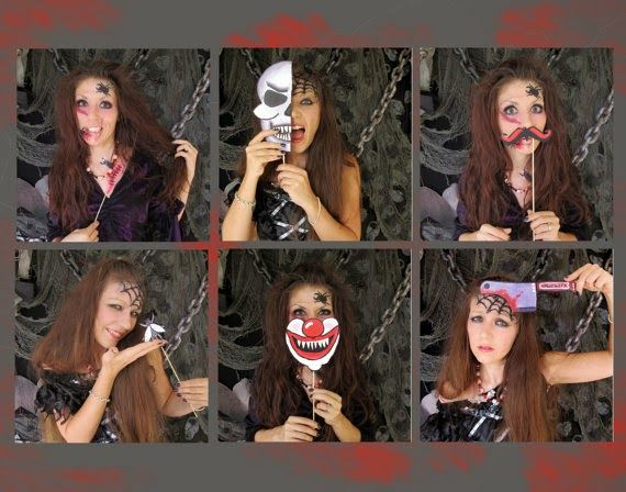 Scary Halloween Photo Booth Props - printable!